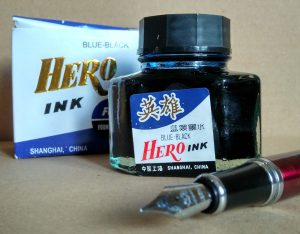 Hero Blue-Black - idelany atrament do podpisów